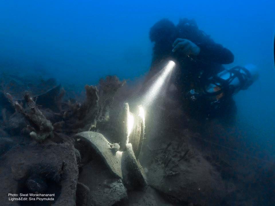 เมื่อวันที่ 25-30 กันยายน 2563 กองโบราณคดีใต้น้ำได้ส่งเจ้าหน้าที่ร่วมดำน้ำสำรวจเก็บข้อมูลทางโบราณคดีเบื้องต้น กองภาชนะดินเผาใต้น้ำที่ระดับความลึก 60-75 เมตร บริเวณกลางอ่าวไทย