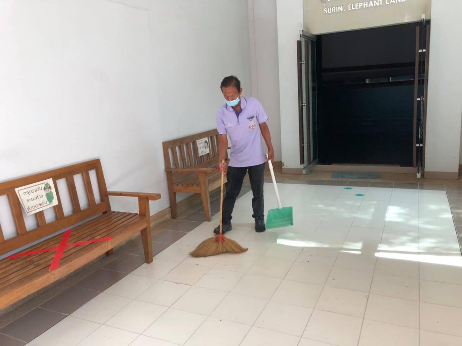 กิจกรรม   Cleaning Day   ประจำวันอาทิตย์ที่ ๘ สิงหาคม พ.ศ. ๒๕๖๔