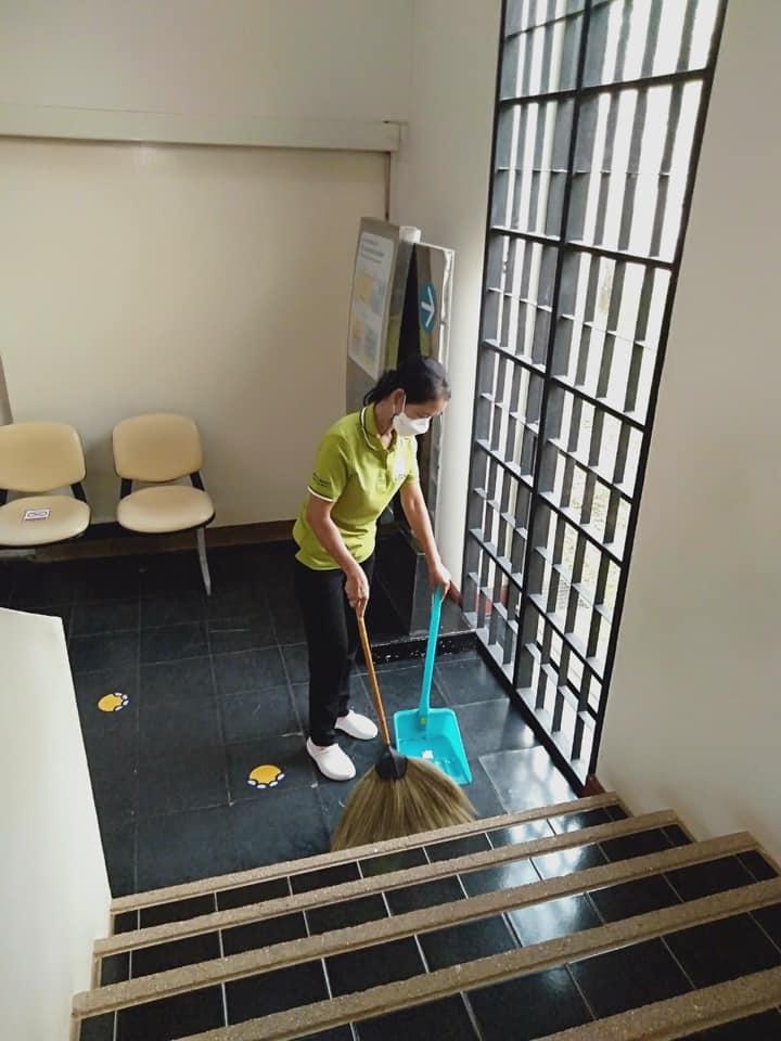 """กิจกรรม """" Cleaning Day """" ประจำวันอาทิตย์ที่ ๒๙ สิงหาคม พ.ศ. ๒๕๖๔"""