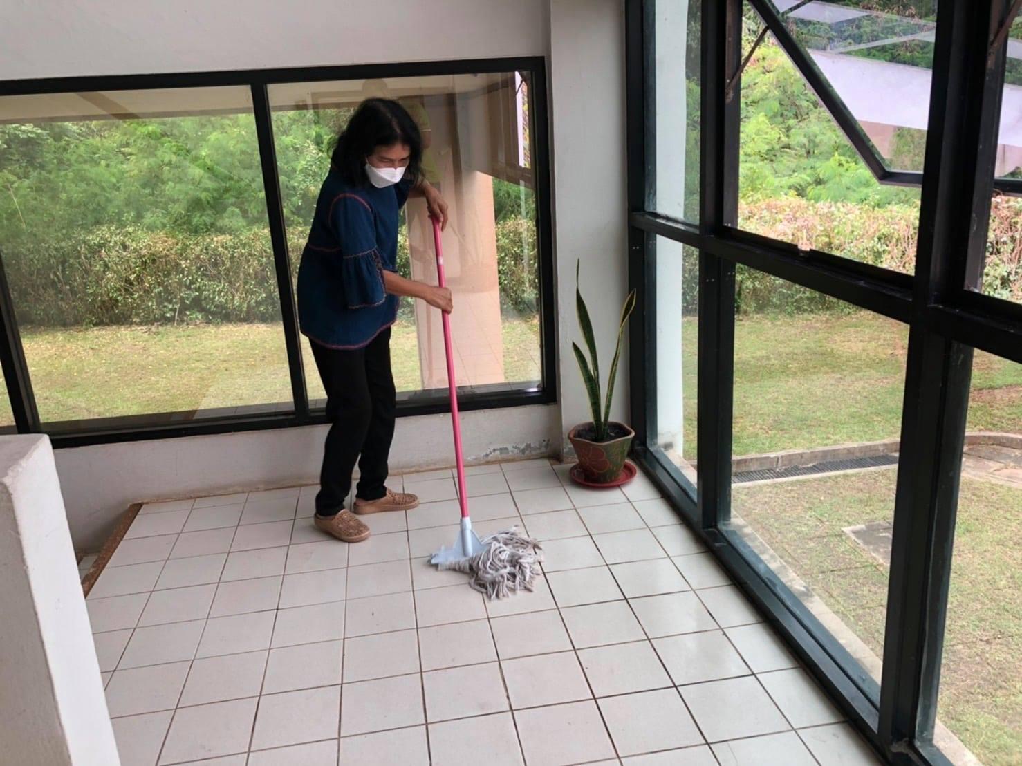 """กิจกรรม """" Cleaning Day """" ประจำวันอาทิตย์ที่ ๑๙ กันยายน พ.ศ. ๒๕๖๔"""