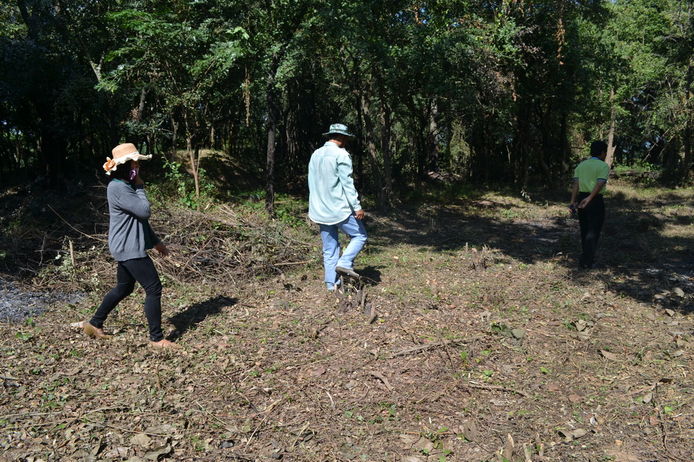 ตรวจสอบความคืบหน้างานสำรวจตรวจสภาพ โบราณสถานบารายเมืองพิมายด้านทิศใต้