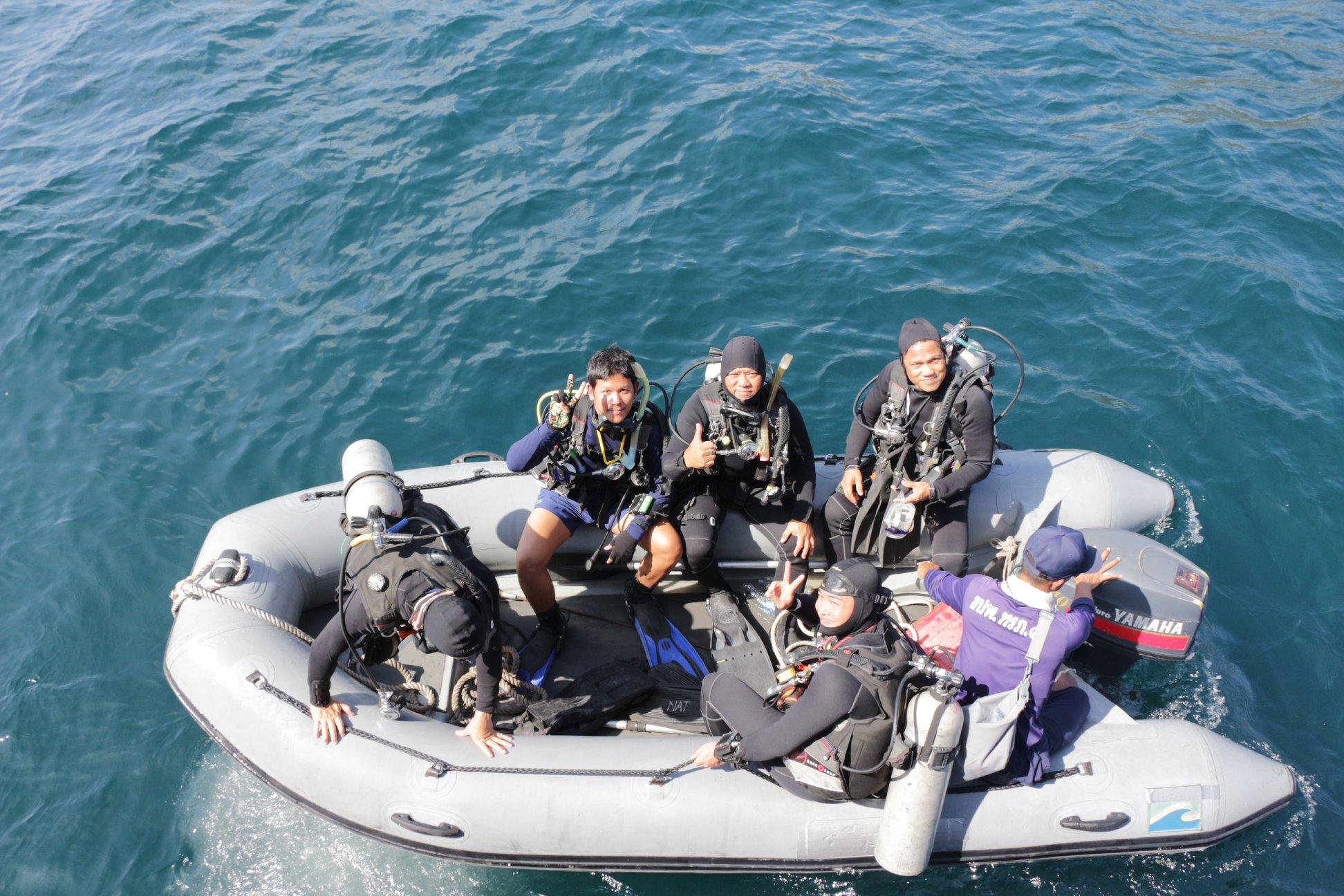 การสำรวจและเก็บกู้ปืนใหญ่บริเวณเกาะราชาน้อย จังหวัดภูเก็ต