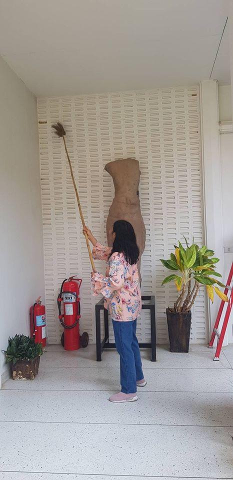 วันอาทิตย์ ที่ ๑๗ พฤษภาคม ๒๕๖๓ เจ้าหน้าที่พิพิธภัณฑสถานแห่งชาติ ขอนแก่น ร่วมกันทำความสะอาด