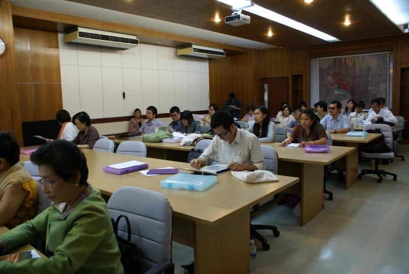 การฝึกอบรมการวิเคราะห์เครื่องถ้วยจีนที่พบในแหล่งโบราณคดีของไทย